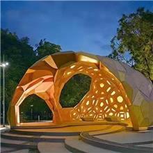 不锈钢金属工艺品室外水景大型园林景异形廊架雕塑 景观廊架