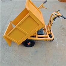 翻斗工地载重手翻灰斗车 建筑装修材料运输设备 小型电动翻斗车