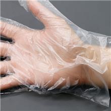 南京 无锡 上海 一次性手套食品家用餐饮家务美容美发沙龙透明PE加厚塑料 100只装