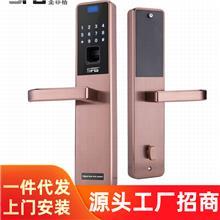 家用防盗锁磁卡锁wifi手机远程开门智能锁指纹锁密码锁电子锁