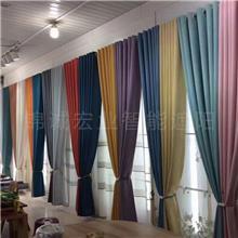 布艺窗帘 厂家销售 北京遮阳开合帘 美观大气