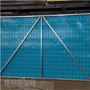 外架钢板网 防坠落爬架网 蓝色爬架网 建筑爬架网生产厂家